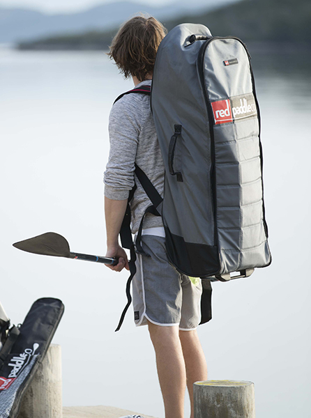 Red Paddle Co wheeled backpack