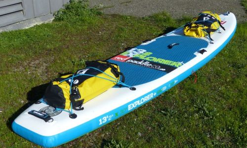 Works great on top of inflatable paddle boards.