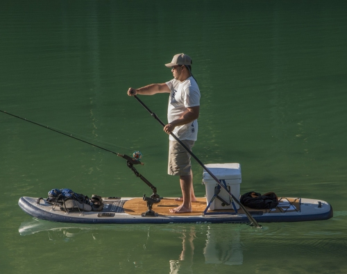 Blackfoot Angler SUP on the water