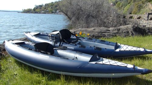 AquaGlide Blackfoot Series Inflatable Angling Kayaks
