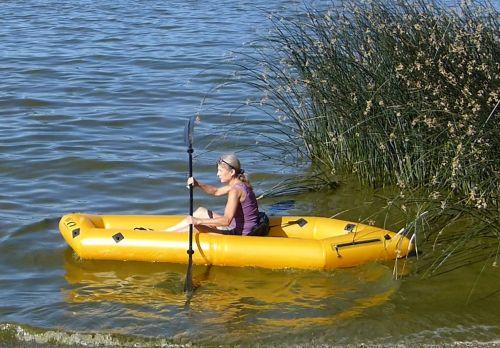 Twain paddled solo.