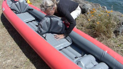 Inflating the seat