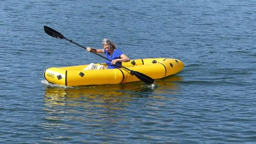 Kokopelli Twain Inflatable Packraft, paddled solo