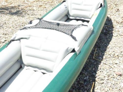 Integrated mesh net, center deck and front seat