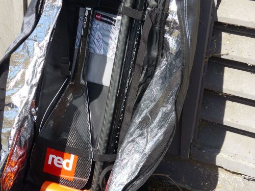 Updated roller backpack with foil lining and paddle holder