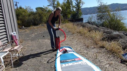 Pumping up the Red Paddle Co Sport 11'3