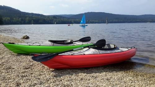 Swing Inflatable Kayaks now in green or red.
