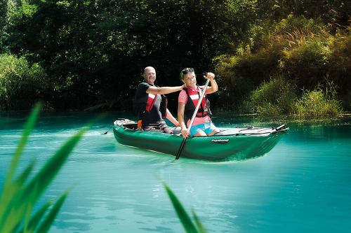 Innova Vagabond inflatable canoe for 1-2+ paddlers.