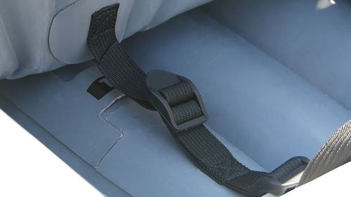 Floor straps for seat and brace