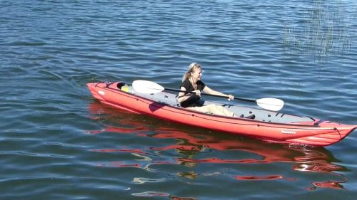 Innova Seawave inflatable kayak paddled solo.