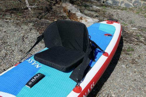 Attaching an optional kayak seat