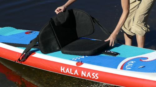 Attaching a kayak seat.