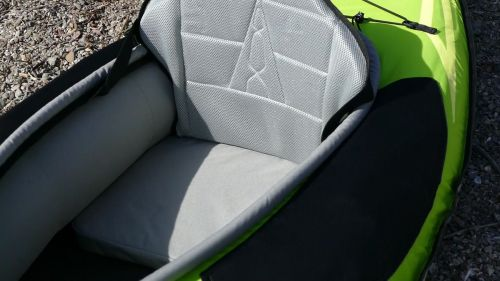 High-backed padded seat