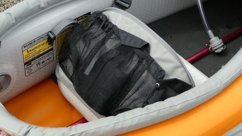 Mesh pocket on back of seat.
