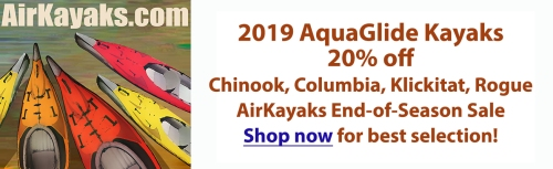 20% off select 2019 AquaGlide Kayaks at Airkayaks.com