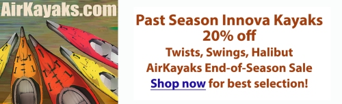 20% off past season Innova Kayaks at Airkayaks.com