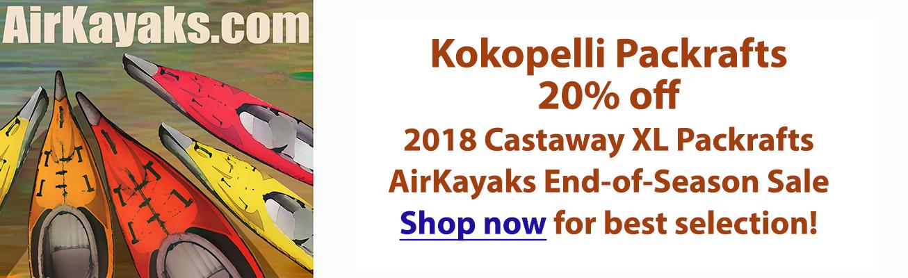 20% off 2018 Kokopelli Castaway XL Packrafts at Airkayaks.com