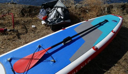 Paddle attached to the board