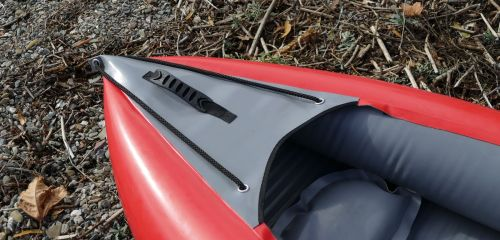 Front carrying handle and grab lines