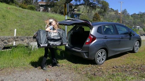 The Convertible Elite easily fits in the trunk of a small car.