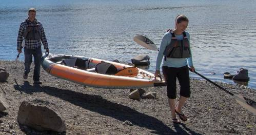AquaGlide Deschutes 145 XL inflatable tandem kayak