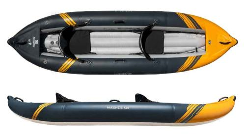AquaGlide McKenzie 145 inflatable self-bailing kayak