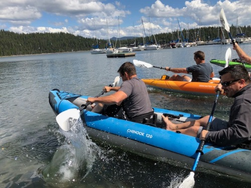 AquaGlide's 2020 Chinook 120 XL inflatable kayaks