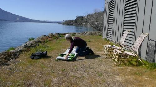 Folding up the Navarro kayak