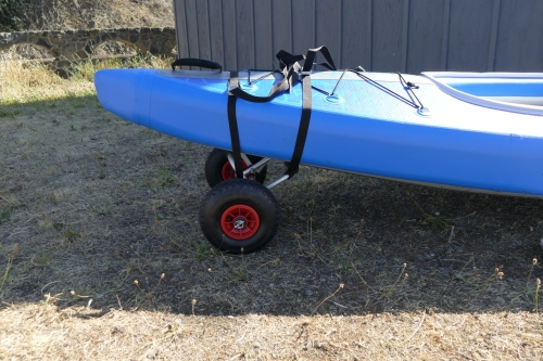 Using the kayak dolly to transport the AirVolution2
