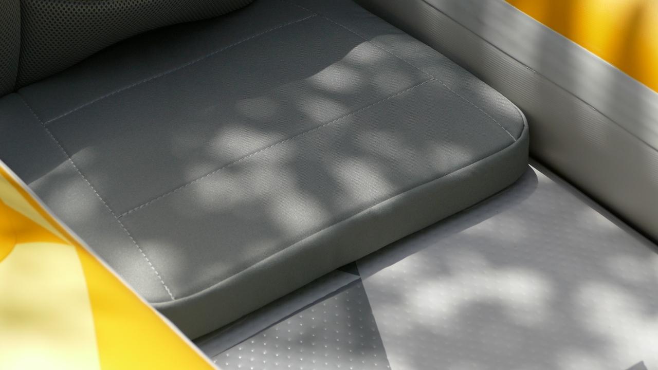 Padded seat base.