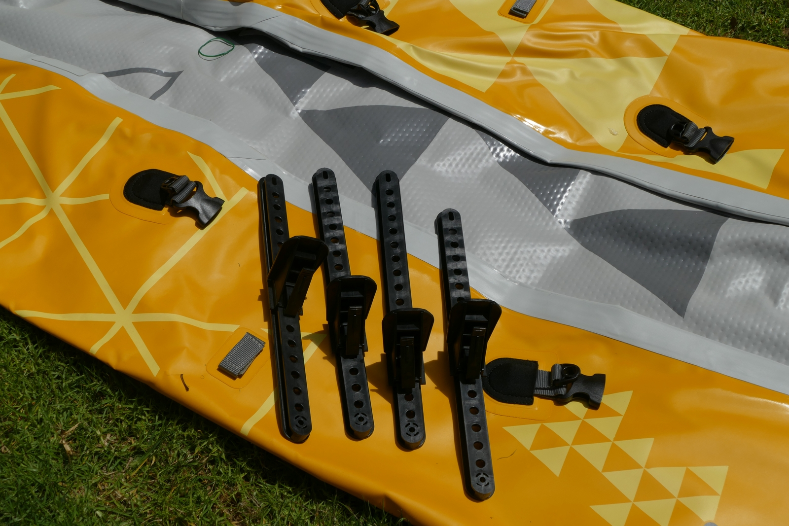 Two sets of foot pegs.