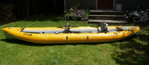Advanced Elements StraitEdge2 Pro Inflatable Kayak - Side view