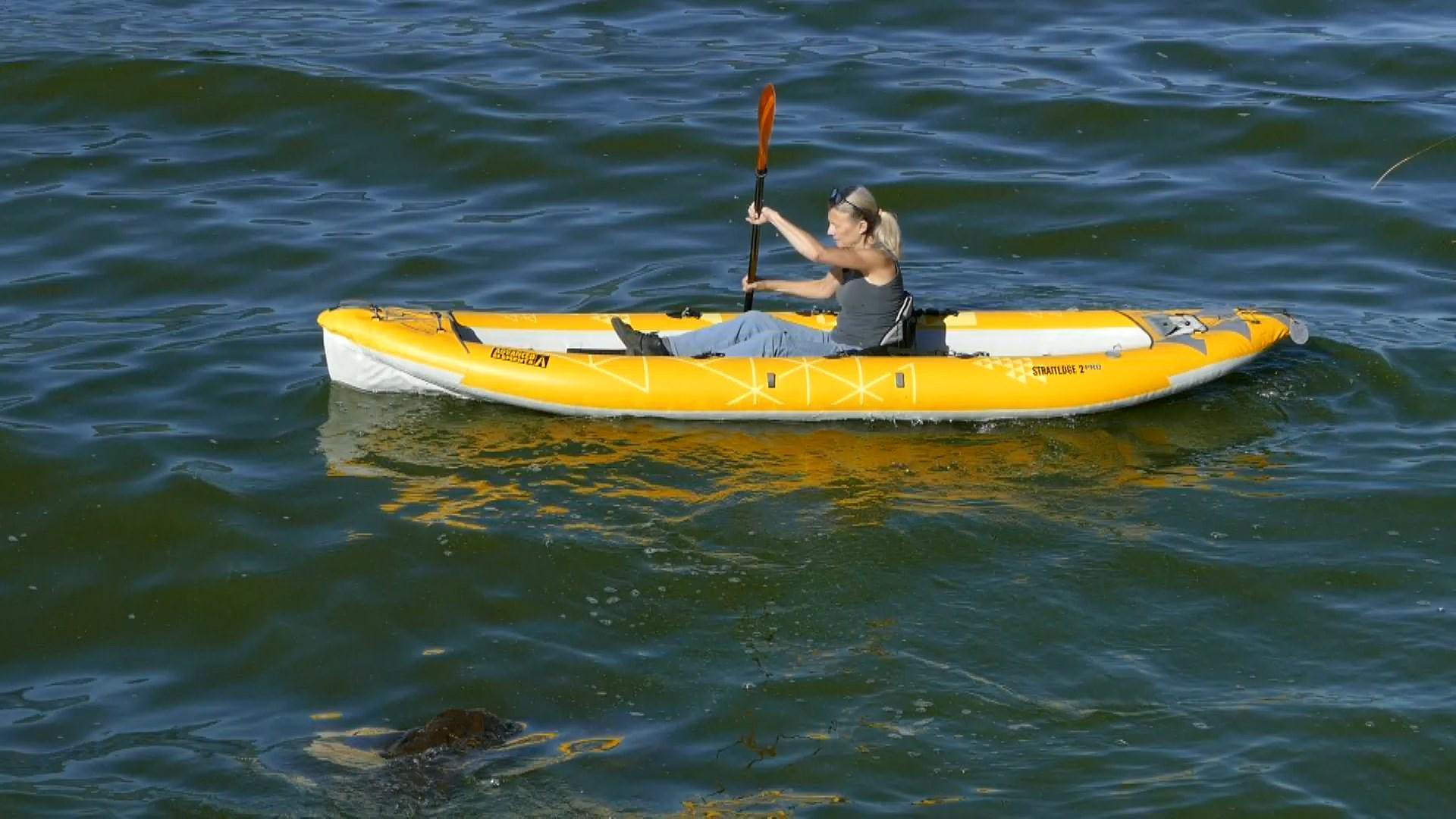 Advanced Elements StraitEdge2 Pro Inflatable Kayak - paddled solo.