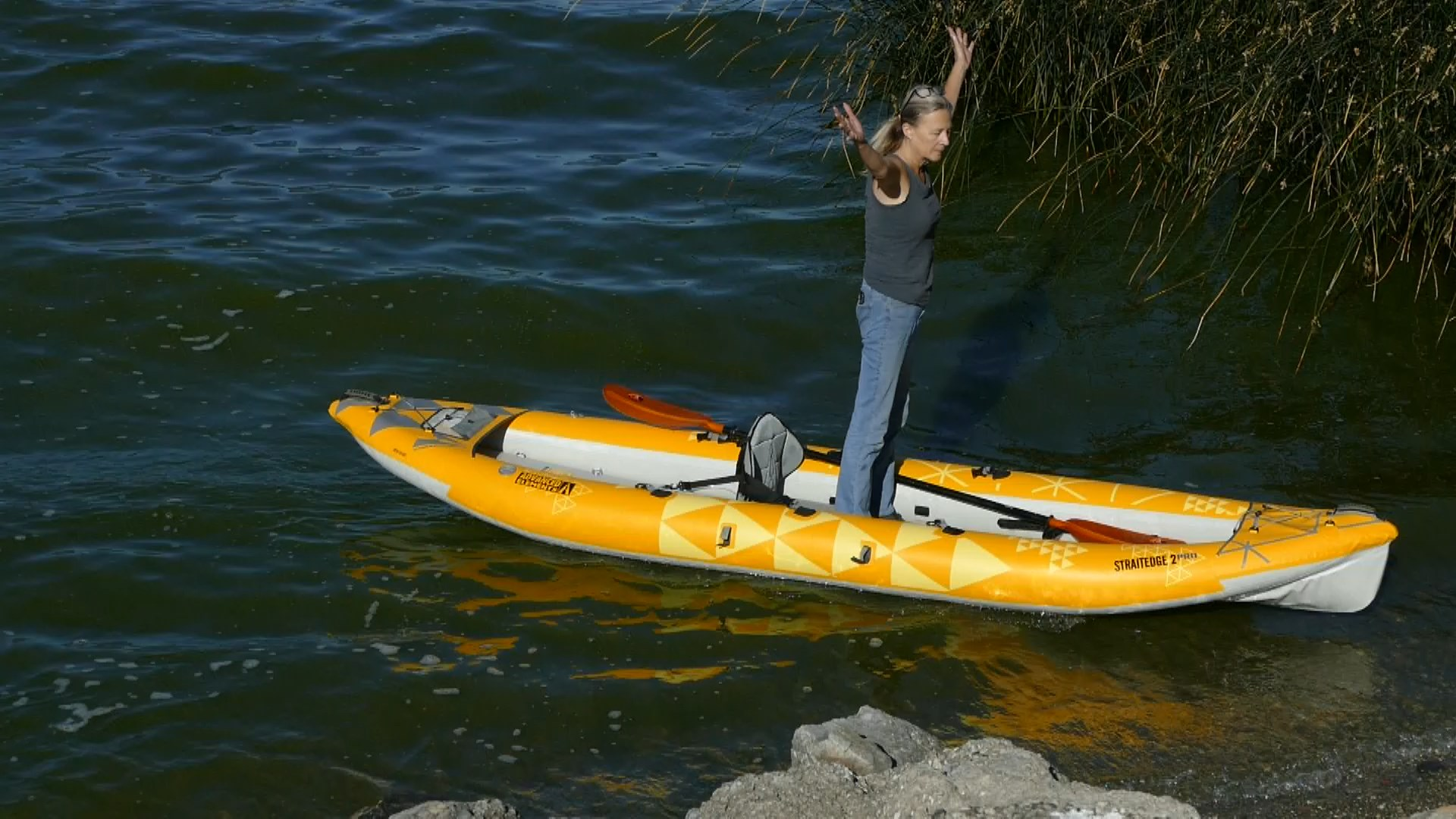The Advanced Elements StraitEdge2 Pro Inflatable Kayak is stable.