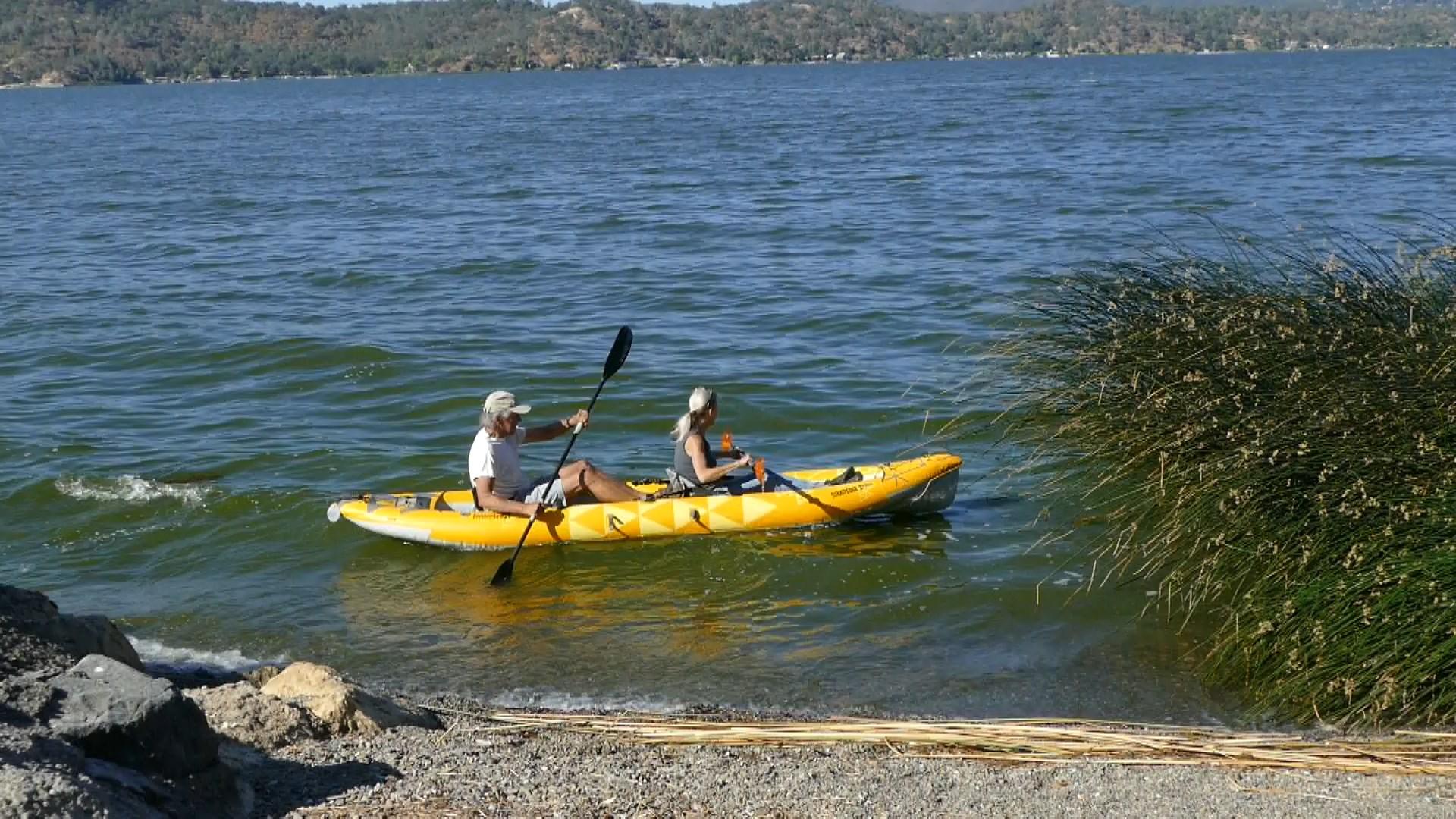 Advanced Elements StraitEdge2 Pro Inflatable Kayak - Paddled tandem.